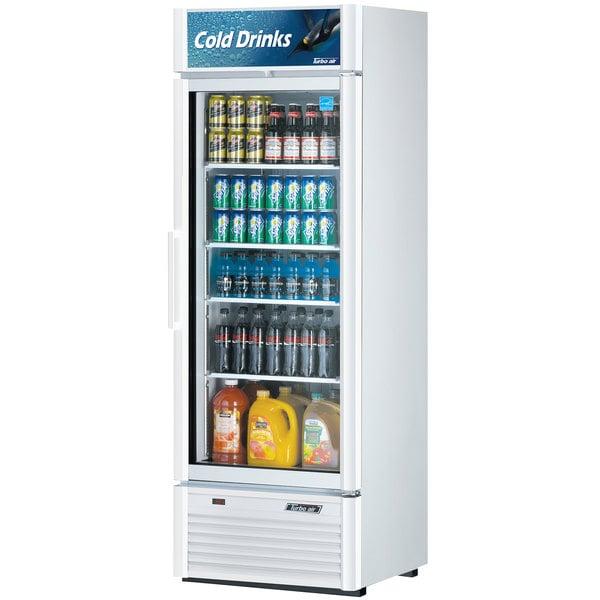 "Turbo Air TGM-20SDW-N6 Super Deluxe Series 27"" White Single Glass Door Refrigerated Merchandiser Main Image 1"