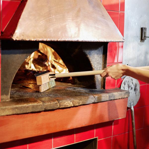 """Chef Master 40"""" Pizza Oven Brush with Scraper"""