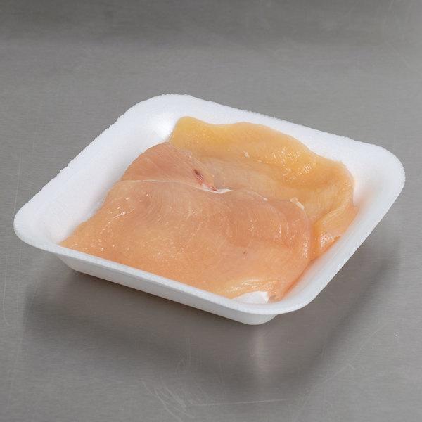"""Genpak 1001 (#1) Foam Meat Tray White 5 1/4"""" x 5 1/4"""" x 1"""" - 1000/Case"""