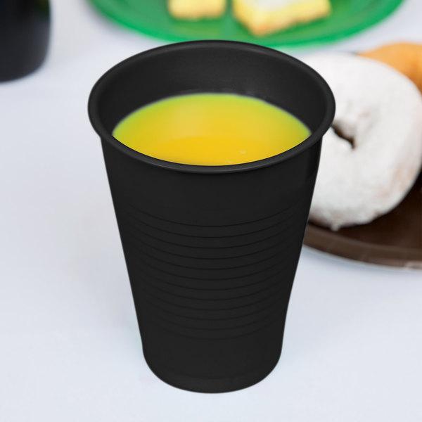 Dart Solo P16ERL-00004 16 oz. Black Plastic Cup - 1000/Case