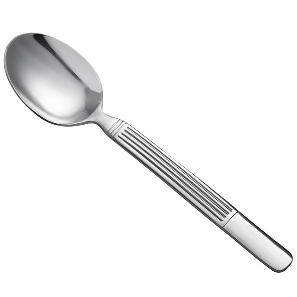 "Oneida B986STBF Athena 8"" 18/0 Stainless Steel Heavy Weight Tablespoon / Serving Spoon - 36/Case"