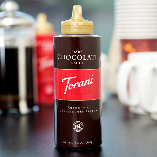 Torani 16.5 oz. Dark Chocolate Flavoring Sauce