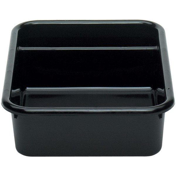 "Cambro 1621CBR110 Regal Cambox 21"" x 16"" x 5"" Black Two Compartment Plastic Bus Box"