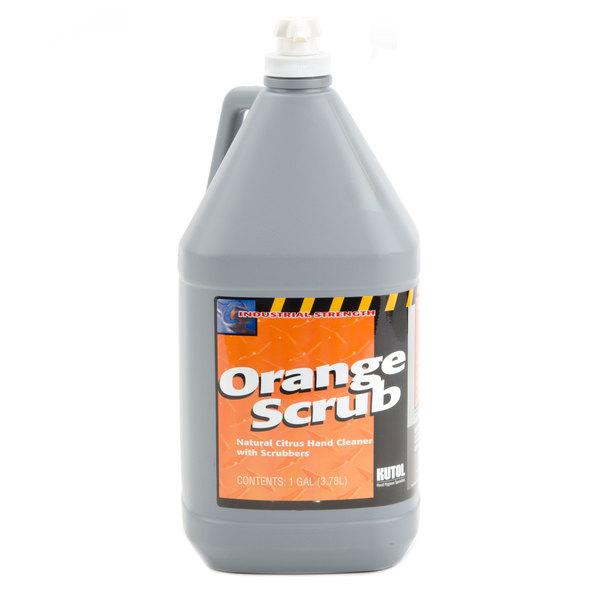 Kutol 4902 1 Gallon Orange Scrub Hand Soap - 4/Case