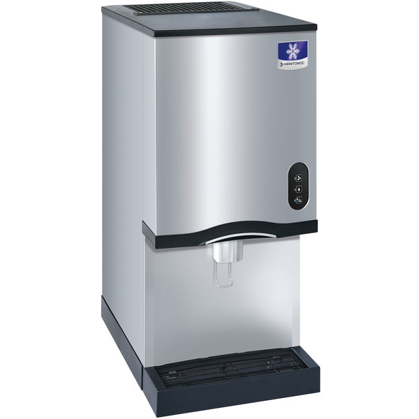 Manitowoc CNF0202AL 16 1/4 inch Air Cooled Countertop Nugget Ice Maker / Water Dispenser - 20 lb. Bin with Lever Dispensing - 115V