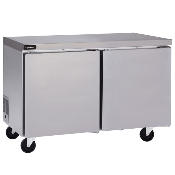 """Delfield GUR60P-S 60"""" Undercounter Refrigerator with 3"""" Casters Main Image 1"""