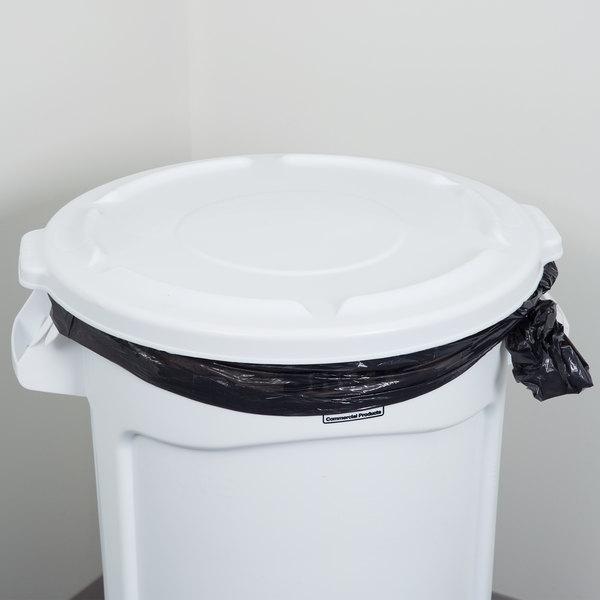 rubbermaid fg263100wht brute 32 gallon white trash can lid
