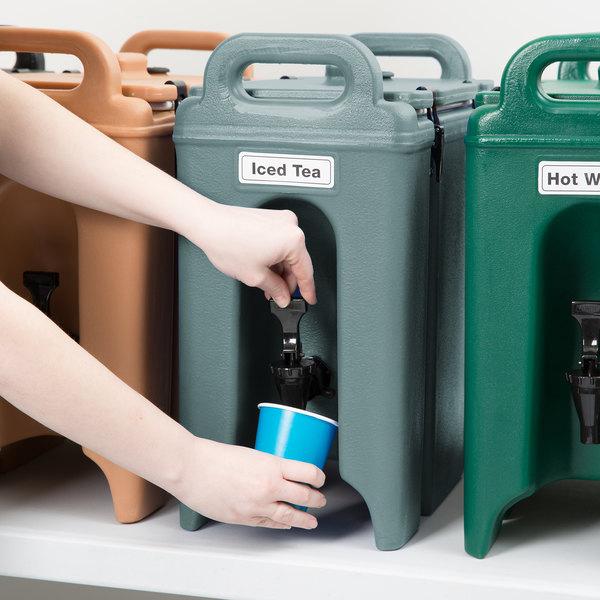 Cambro 250LCD401 Camtainer 2.5 Gallon Slate Blue Insulated Beverage Dispenser