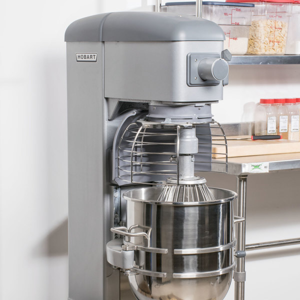 Hobart Legacy HL400-4 40 Qt. Commercial Planetary Floor Mixer with Standard Accessories - 240V, 1 1/2 hp Main Image 7