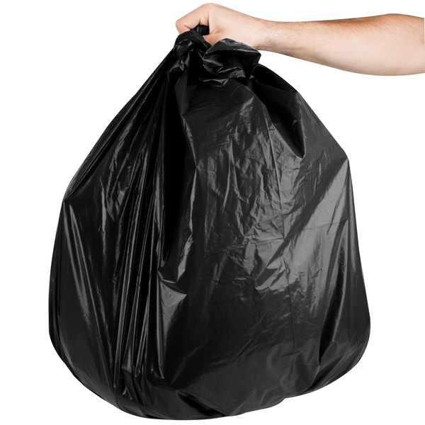"""Berry AEP 333940G 33 Gallon 1.6 Mil 33"""" x 39"""" Low Density Can Liner / Trash Bag - 100/Case Main Image 3"""