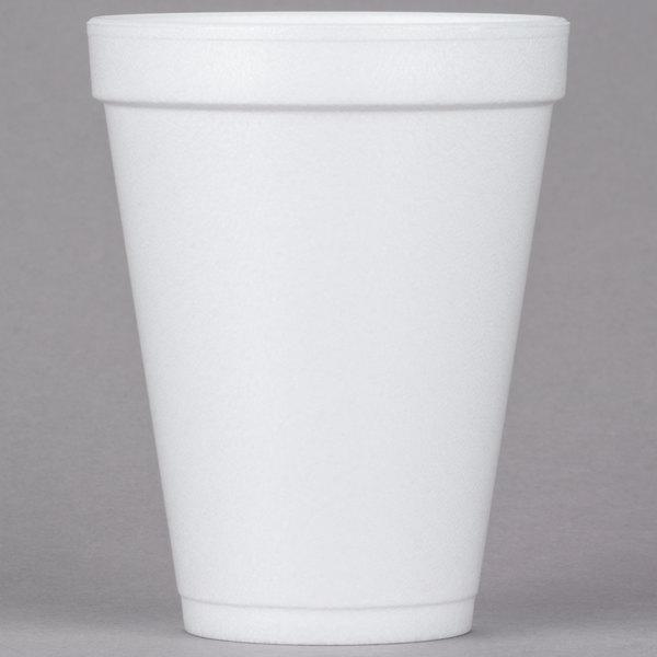 Dart 12J12 12 oz  White Foam Cup - 25/Pack