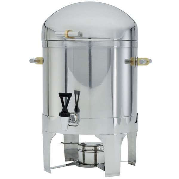 Vollrath 46093 3 Gallon New York, New York Coffee Urn with Brass Trim