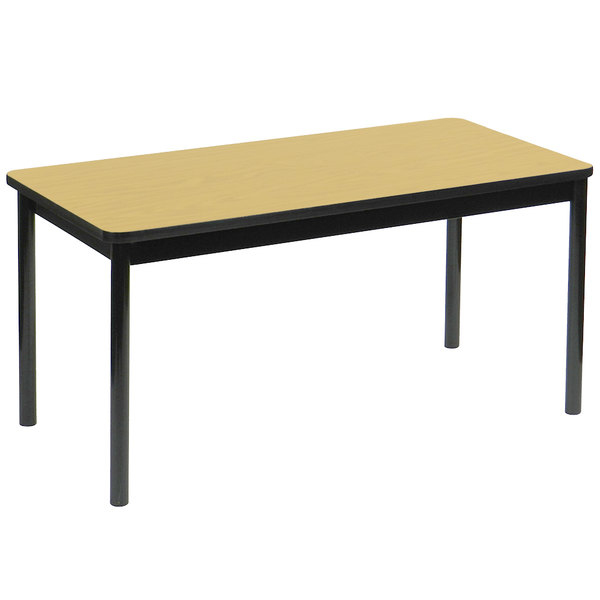 "Correll LT3072-16 30"" x 72"" Fusion Maple Lab Table - 36"" Height"