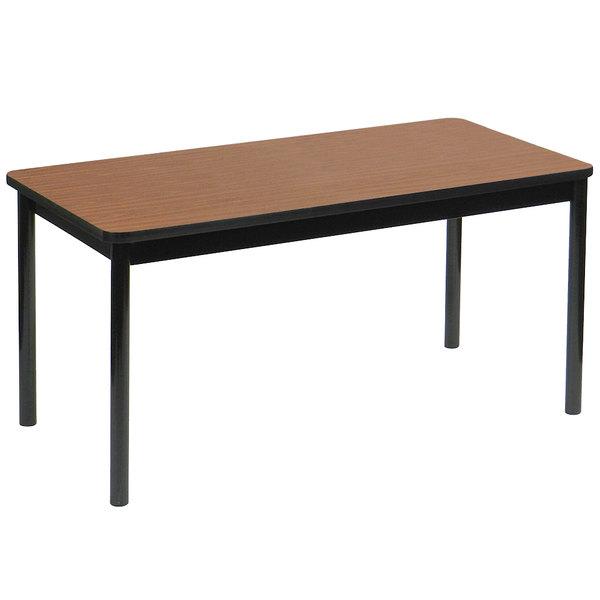 "Correll LT3072-06 30"" x 72"" Medium Oak Lab Table - 36"" Height"