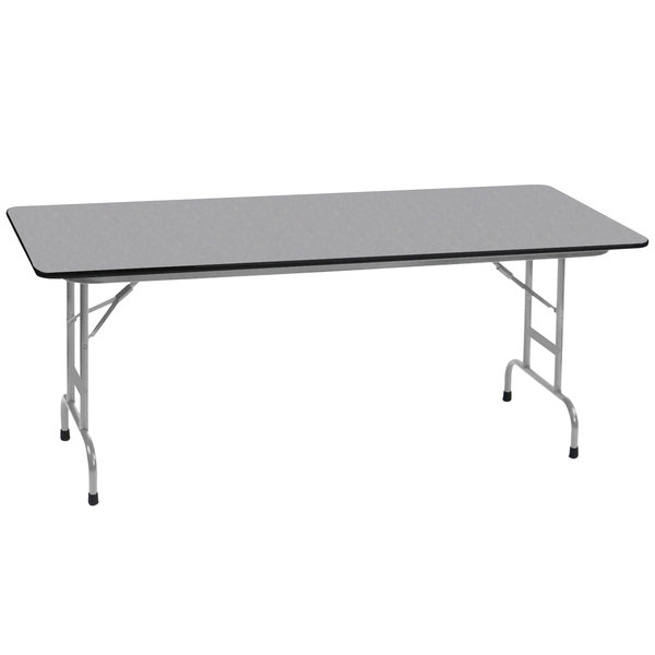 Correll CFAM X Gray Granite Light Duty Melamine - 36 x 96 conference table