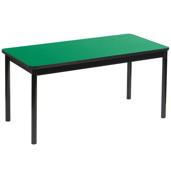 """Correll LT3048-39 30"""" x 48"""" Green Lab Table - 36"""" Height Main Image 1"""