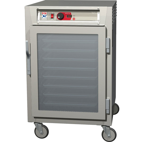Metro C585-SFC-UPFS C5 8 Series Reach-In Pass-Through Heated Holding Cabinet - Solid / Clear Doors Main Image 1