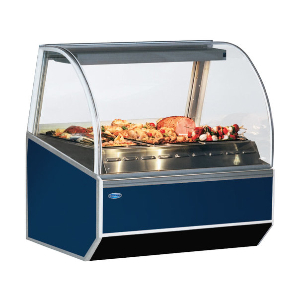 """Federal SN-6HD 77"""" Series '90 Double-Curved Glass Heated Deli Case Main Image 1"""
