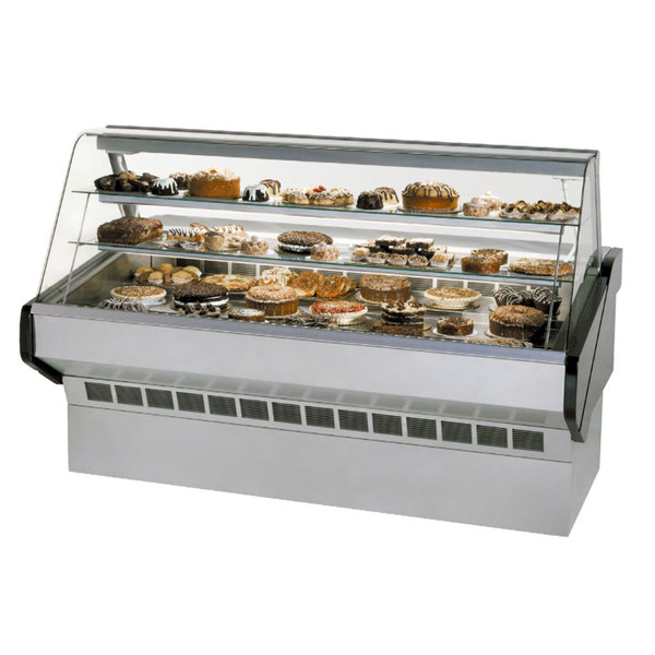 """Federal SQ-5B 60"""" Market Series Curved Glass Dry Bakery Case Main Image 1"""