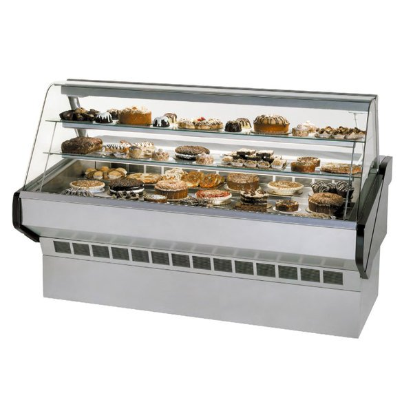 """Federal SQ-8B 96"""" Market Series Curved Glass Dry Bakery Case Main Image 1"""