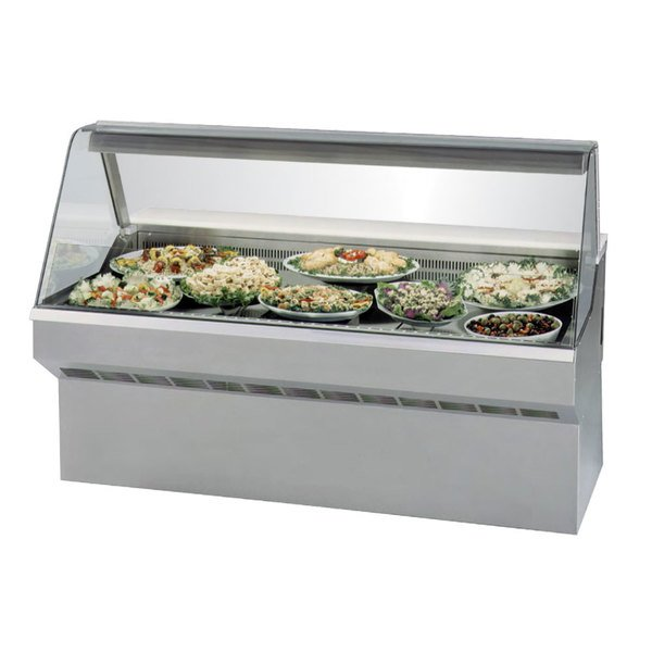 """Federal SQ-5CD 60"""" Market Series Curved Glass Refrigerated Deli Case Main Image 1"""