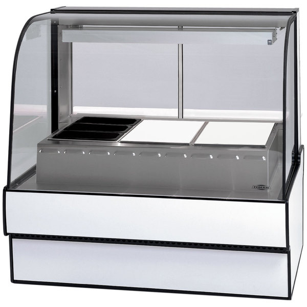 """Federal Industries CG5948HD 59"""" Full Service Heated Display Case with Curved Front - 120/208-240V Main Image 1"""