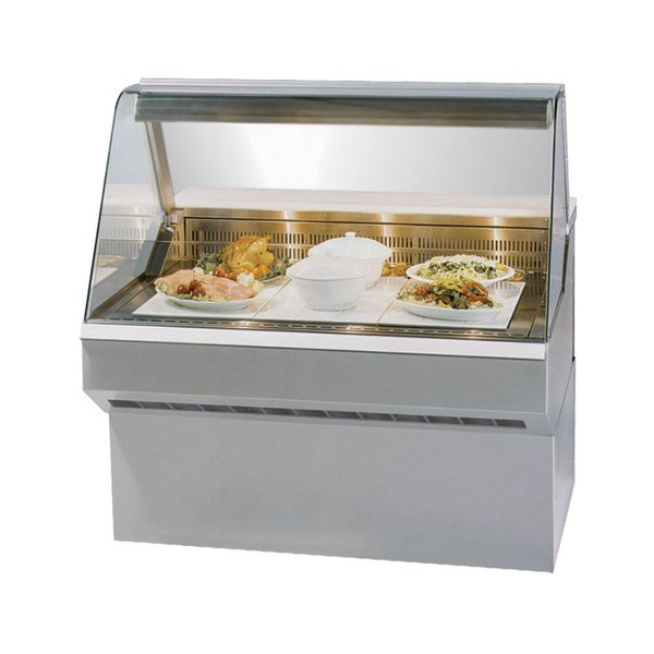 """Federal SQ-6HD 72"""" Market Series Curved Glass Heated Deli Case Main Image 1"""
