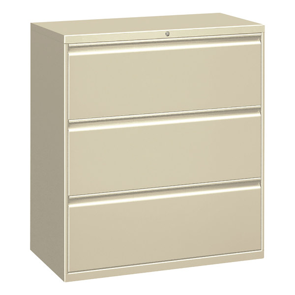 Alera Alelf3041py Putty Metal Three Drawer Lateral File Cabinet 30 X 19 1 4 40