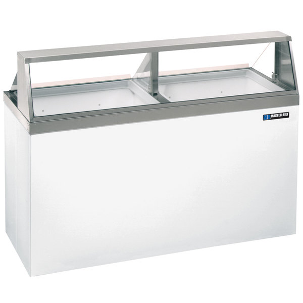 """Master-Bilt DD-66 69"""" Straight Glass Ice Cream Dipping Cabinet Scratch and Dent"""