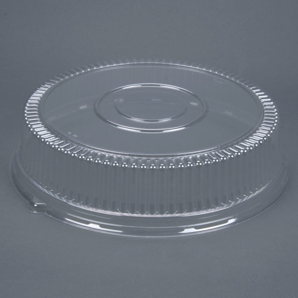 Sabert 5518 18 inch Clear Dome Lid for Round Catering Tray - 36/Case