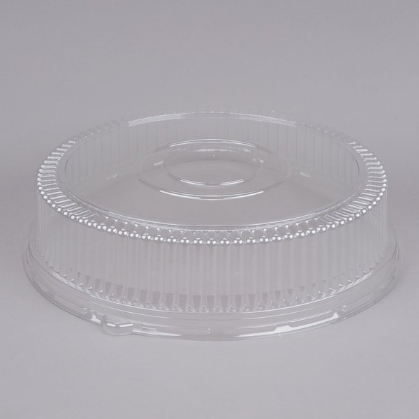 Sabert 5518 18 inch Clear Plastic Round High Dome Lid - 36/Case