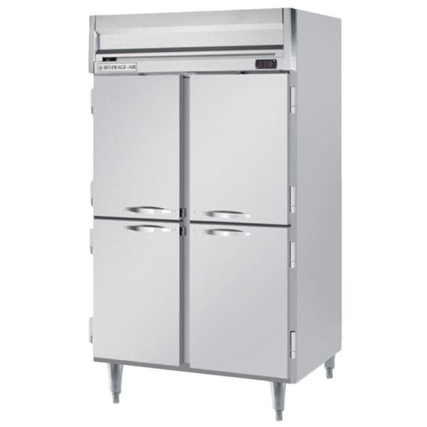 """Beverage-Air HFPS2-1HS Horizon Series 52"""" Solid Half Door All Stainless Steel Reach-In Freezer"""