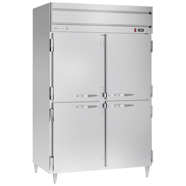 "Beverage-Air HFPS2-1HS Horizon Series 52"" Solid Half Door All Stainless Steel Reach-In Freezer Main Image 1"