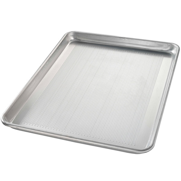 Chicago Metallic 40857 Perforated Half Size 18 Gauge Aluminum Sheet Pan - Wire in Rim, 13 inch x 18 inch