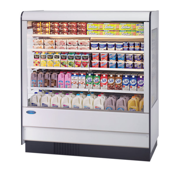 """Federal Industries RSSD-660SC 71"""" High Profile Two Shelf Air Curtain Dairy Case Main Image 1"""