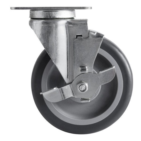 """5"""" Swivel Caster with Brake for Choice 125 lb. Mobile Ice Bins Main Image 1"""