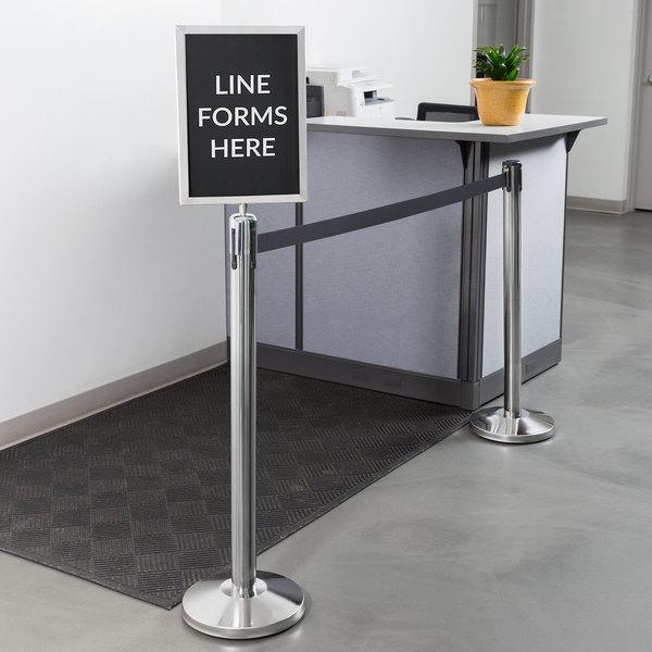 Social Distancing Line Sign