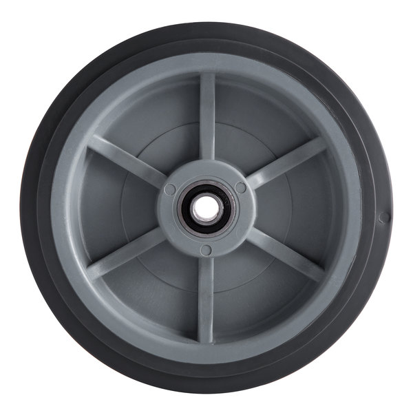 "8"" Fixed Wheel for Choice 125 lb. Mobile Ice Bins Main Image 1"