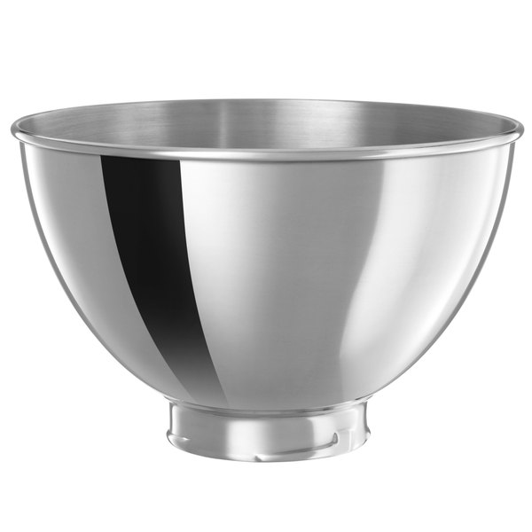 KitchenAid KB3SS Polished Stainless Steel 3 Qt. Mixing Bowl for Stand Mixers Main Image 1