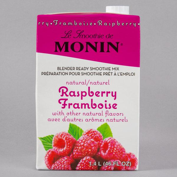 Monin 46 oz. Raspberry Fruit Smoothie Mix Main Image 1