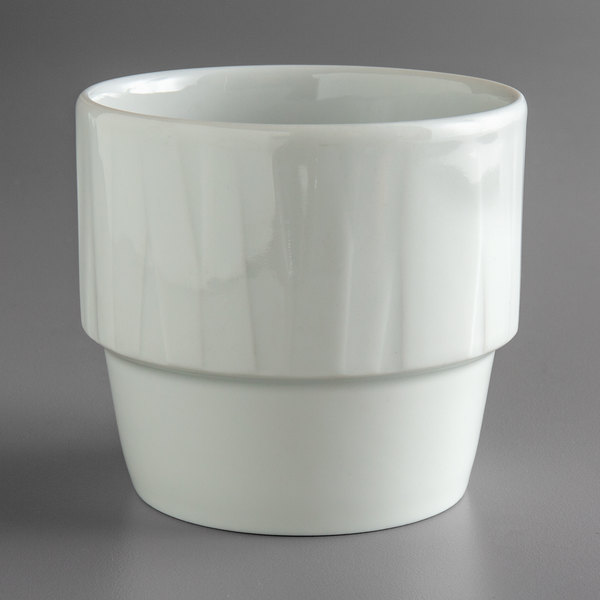 Schonwald 9365325 Character 8.8 oz. White Round Stackable Porcelain Bouillon Cup - 12/Case