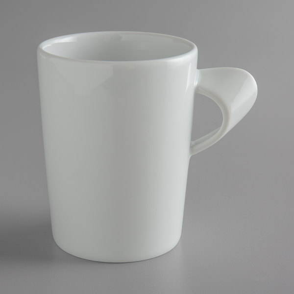 Schonwald 9355275 Signature 8.25 oz. White Porcelain Tall Cup with Handle - 12/Case