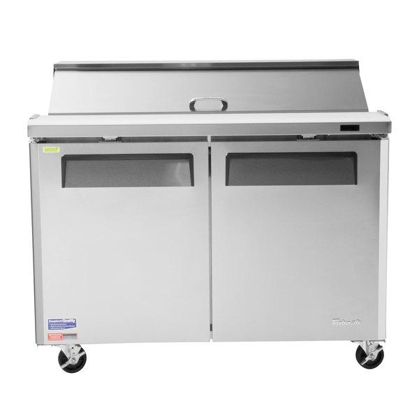 Turbo Air MST-48-18-N M3 Series 48 inch 2 Door Mega Top Stainless Steel Refrigerated Sandwich Prep Table