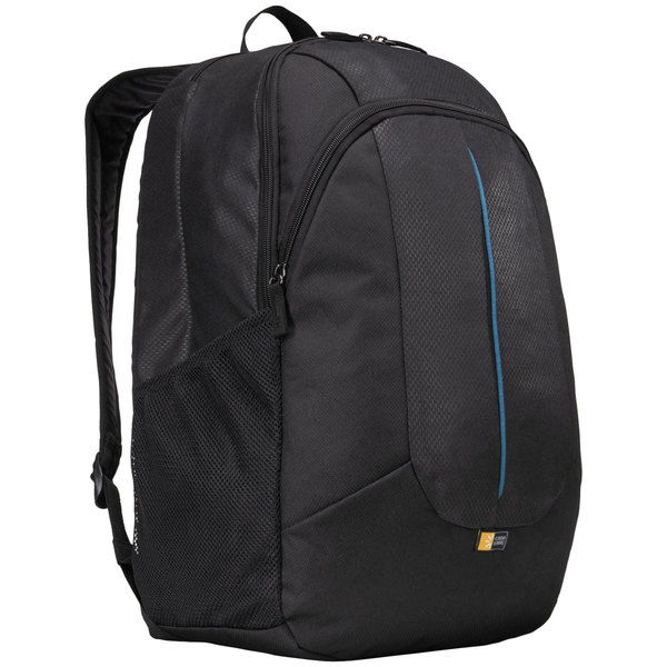 """Case Logic 3203405 18"""" x 12 1/4"""" x 12 1/2"""" Prevailer Black with Blue Accent Laptop Backpack"""