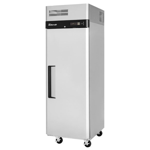 "Turbo Air M3R19-1-N M3 Series 25"" Solid Door Stainless Steel Reach-In Refrigerator Main Image 1"