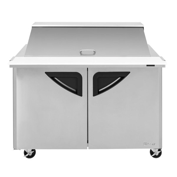 """Turbo Air TST-48SD-N 48"""" Super Deluxe 2 Door Refrigerated Sandwich Prep Table Main Image 1"""