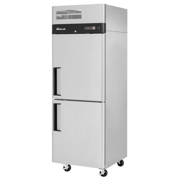 """Turbo Air M3R24-2-N M3 Series 29"""" Solid Half Door Stainless Steel Reach-In Refrigerator Main Image 1"""