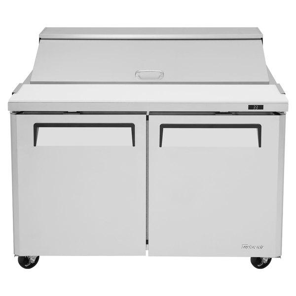 "Turbo Air MST-48-N M3 Series 48"" 2 Door Stainless Steel Refrigerated Sandwich Prep Table Main Image 1"