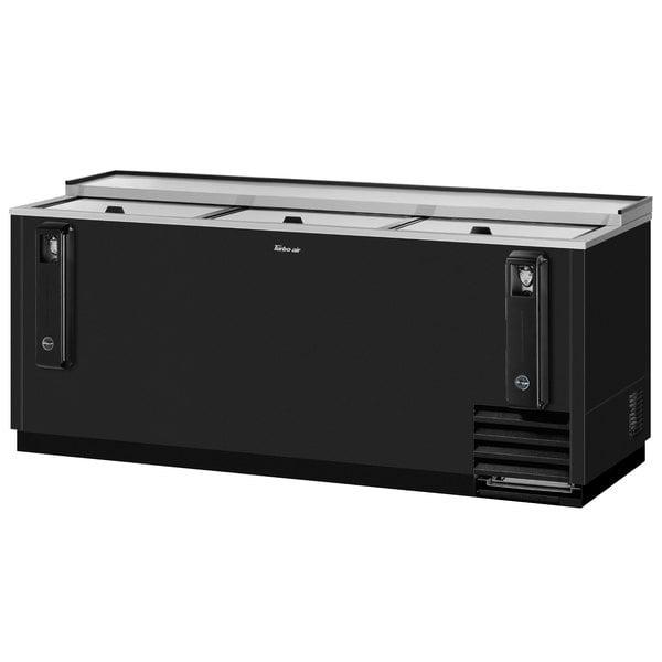"Turbo Air TBC-80SB-N 80"" Black Bottle Cooler Main Image 1"