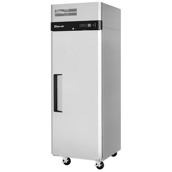 """Turbo Air M3R24-1-N M3 Series 29"""" Solid Door Stainless Steel Reach-In Refrigerator Main Image 1"""